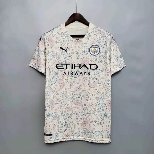 JERSEY BAJU BOLA PLAYER ISSUE MANCHESTER CITY 3RD NEW OFFICIAL 2021 - Putih, L