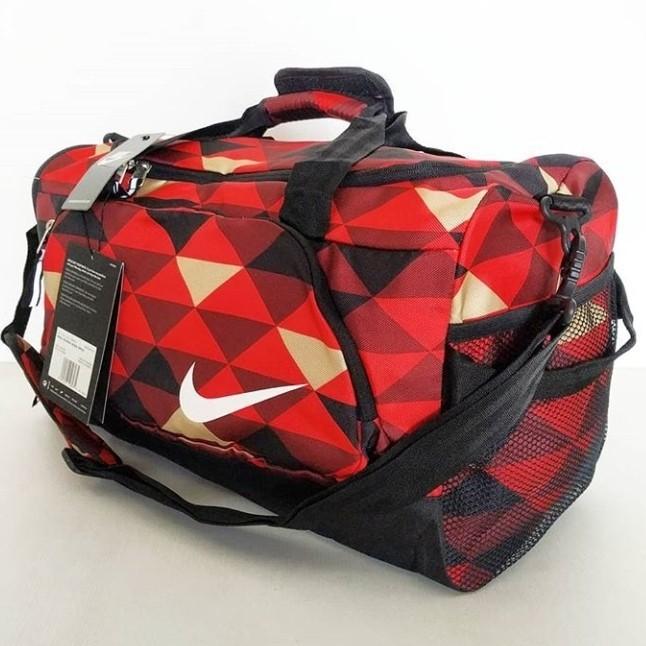 NIKE DUFFEL BAG RED PRISM /TAS OLAHRAGA