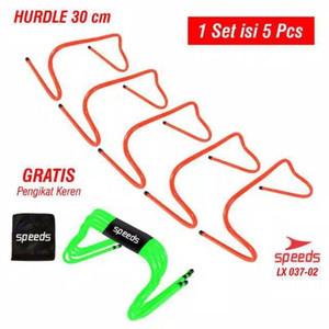 Speed hurdle agility 5pcs set tinggi 30cm sepak bola futsal