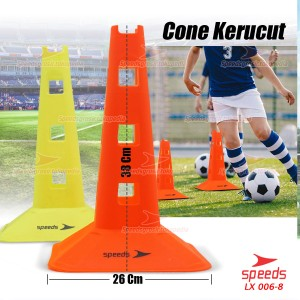 Cone Kerucut 38 Cm isi 5 Marker Sepak Bola Latihan Olahraga 006-08 - Orange