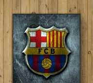 Hiasan Dinding Logo Sepak Bola Barcelona